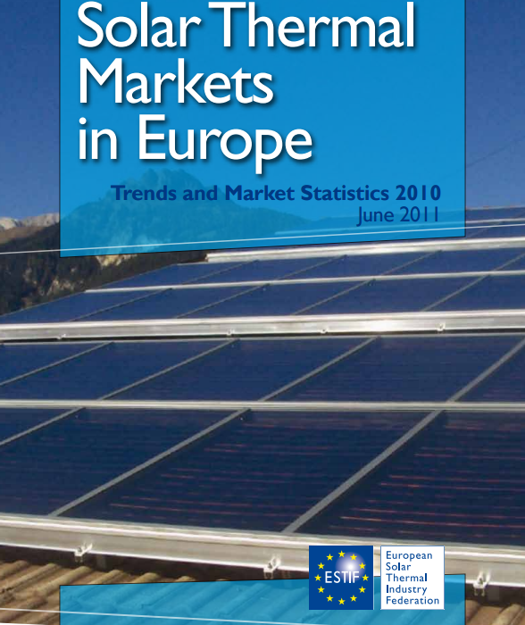 Solar Thermal Markets in Europe – Trends and Market Statistics 2010 (published June 2011)