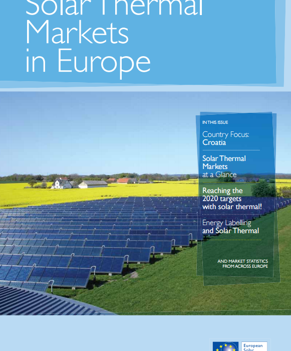 Solar Thermal Markets in Europe – Trends and Market Statistics 2012 (published June 2013)
