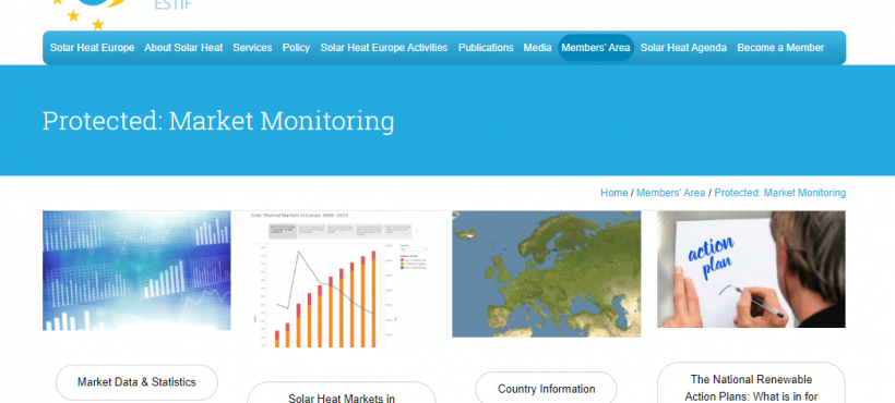 New Market Monitoring Section in the Members' Area