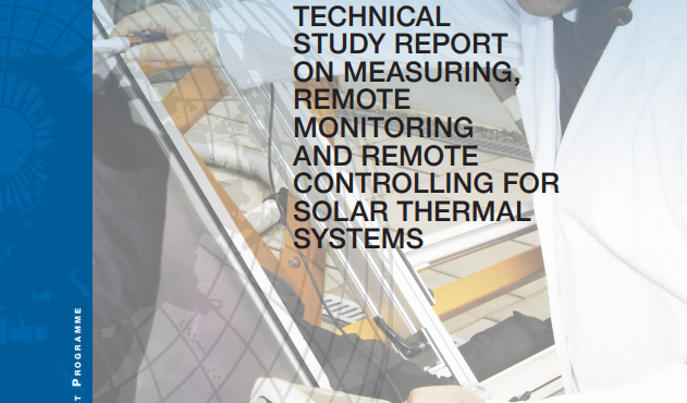 Technical Study Report on Measuring Remote Monitoring and Remote controlling for Solar Thermal Systems