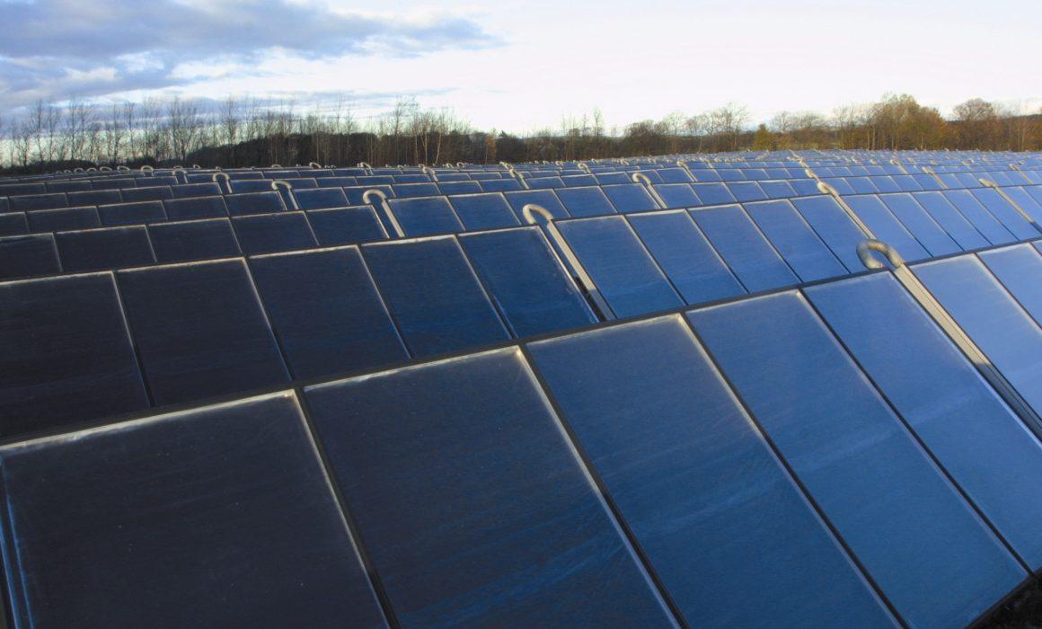 Arcon Solar Heat Europe – Solar heating and biomass plant, 5500 m2, Falkenberg, Sweden