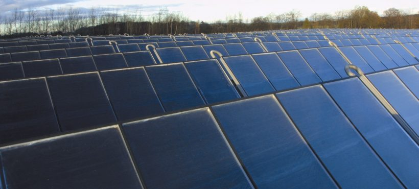 Arcon Solar Heat Europe – Solar heating and biomass plant, 5500 m2, Falkenberg, Sweden
