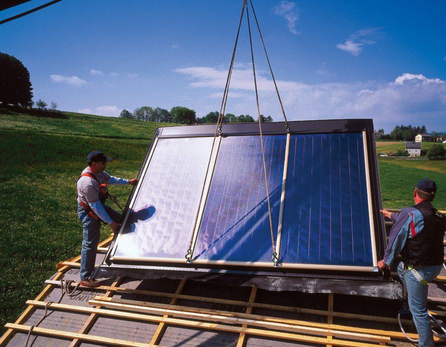 Austria Solar Solar Heat Europe – Installation Solar Flat Collectors – Picture 2