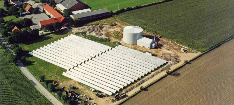 Batec Solar Heat Europe – 2520 kWth district heating in Rise, Denmark