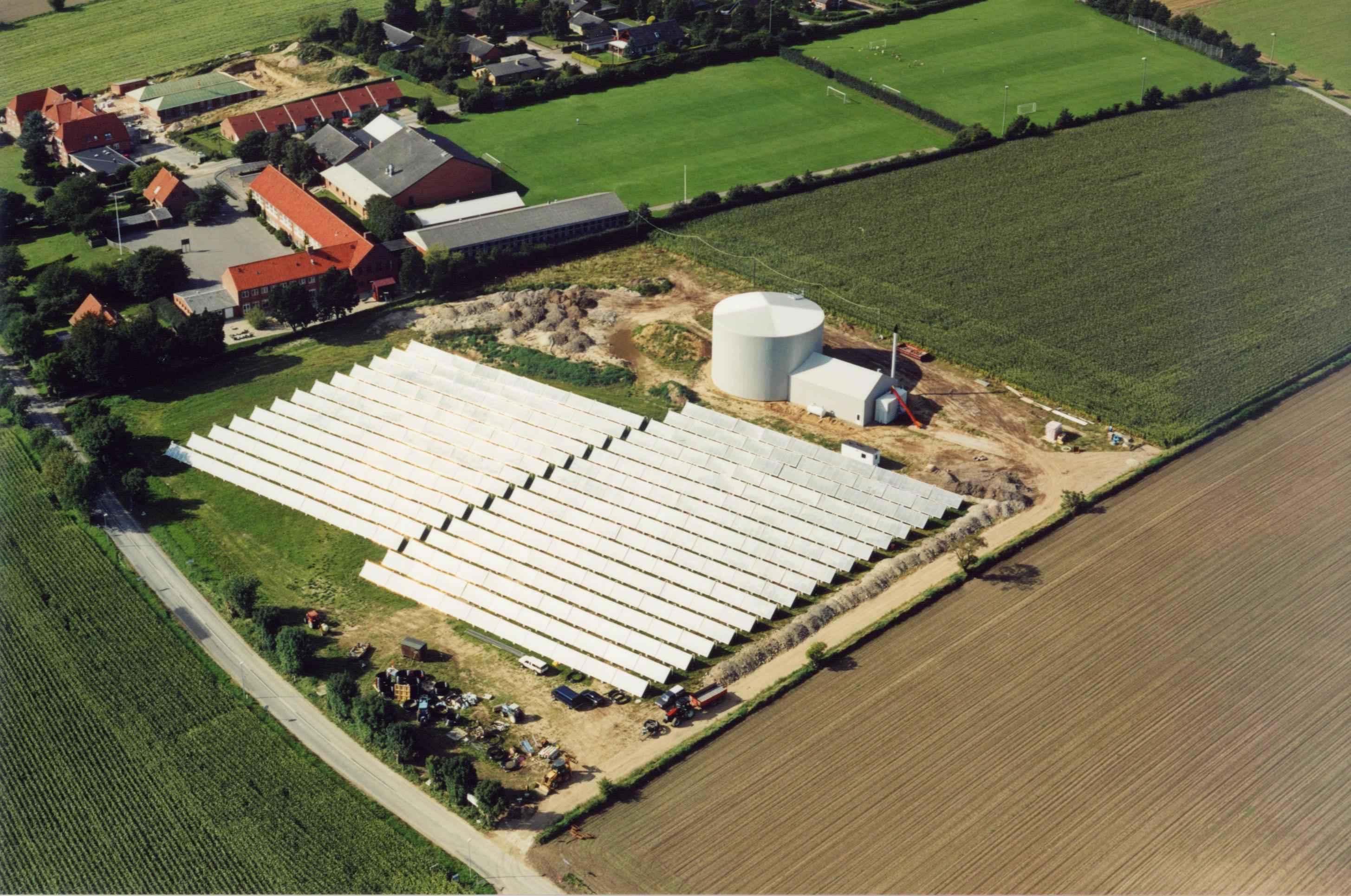 Batec Solar Heat Europe – 2520 kWth district heating in Rise, Denmark