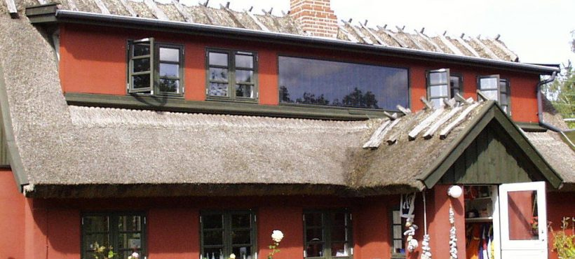 Batec Solar Heat Europe – Collector integrated facade in old house in Denmark