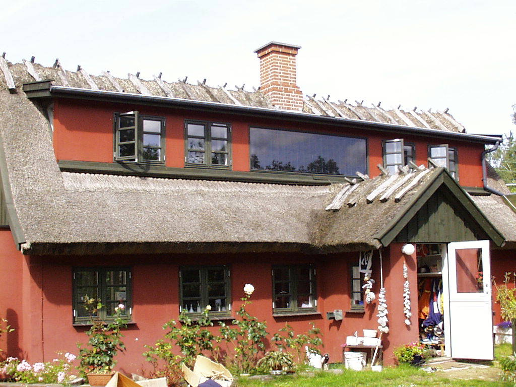 Batec Solar Heat Europe – Collector integrated in old house in Denmark