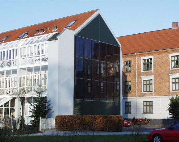 Batec Solar Heat Europe – Facade integrated collectors in Slagelse, Denmark