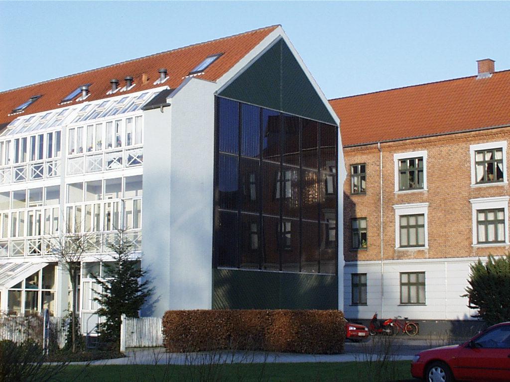 Batec Solar Heat Europe – Facade integrated collectors in Slagelse, Denmark
