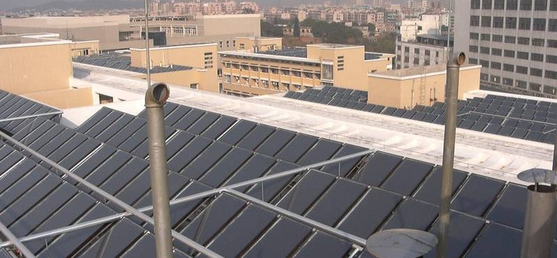 GREENoneTEC Solar Heat Europe – Collector field in China