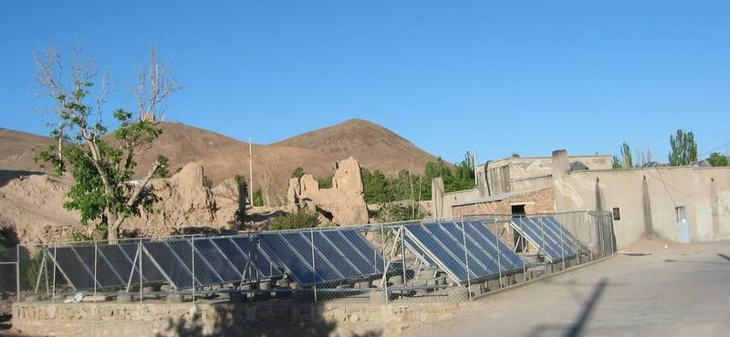 GREENoneTEC Solar Heat Europe – Collector field in Iran
