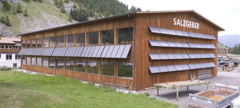 Schweizer Solarpreis 2012 Solar Heat Europe – Salzgeber Holzbau Halle – Timber building company – Switzerland