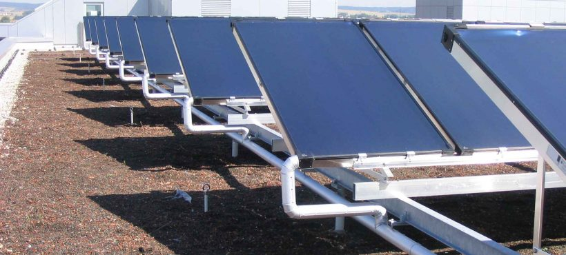 Solahart Solar Heat Europe – Collector field for cooling installation at Audi's Ingolstadt training center