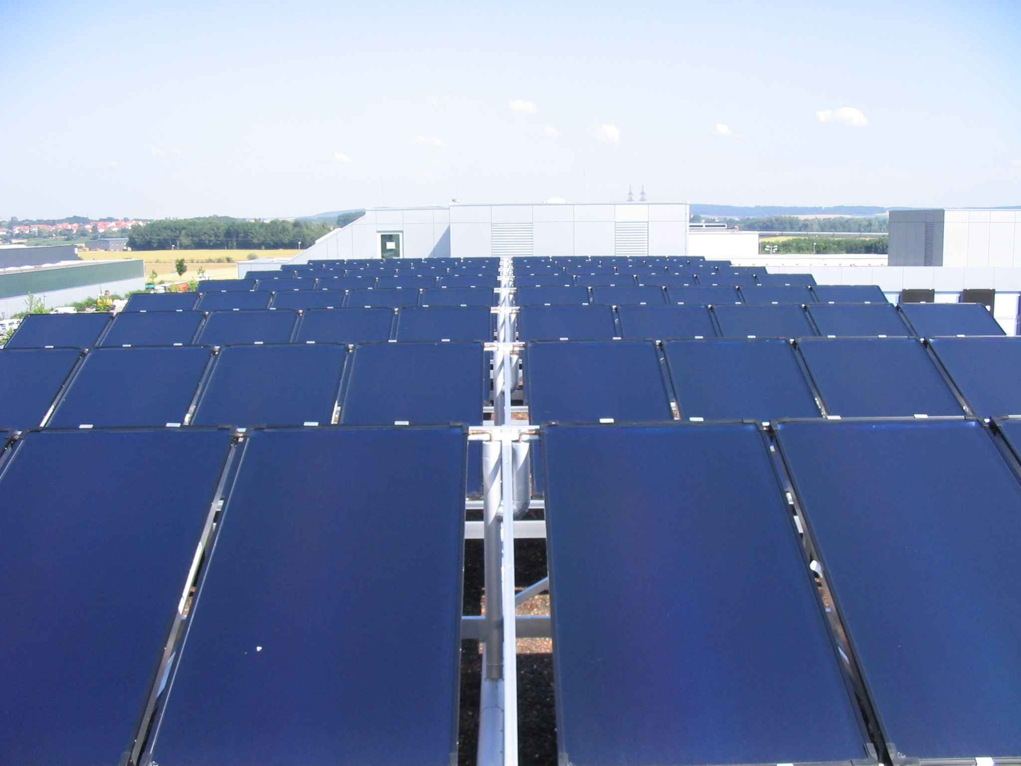 Solahart Solar Heat Europe – Collector field for cooling installation at Audi's Ingolstadt training centre