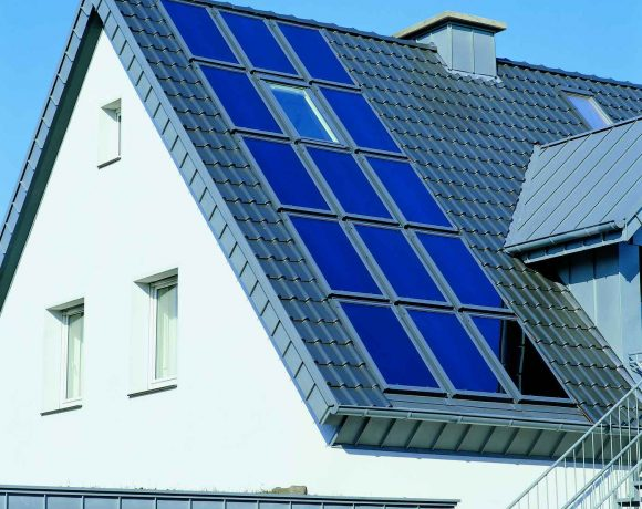 Velux Solar Heat Europe – Roof integrated flat plate collectors on house in Germany – Picture 5