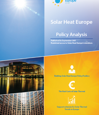Solar Heat Europe publishes a Policy Analysis document for its members.