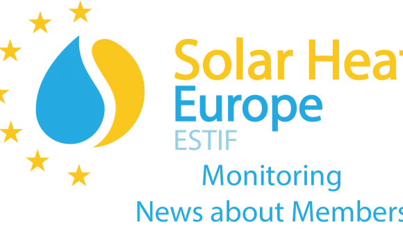 News about Solar Heat Europe Members – 25/01/2019