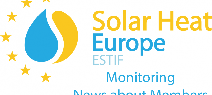 News about Solar Heat Europe Members – 25/05/2018