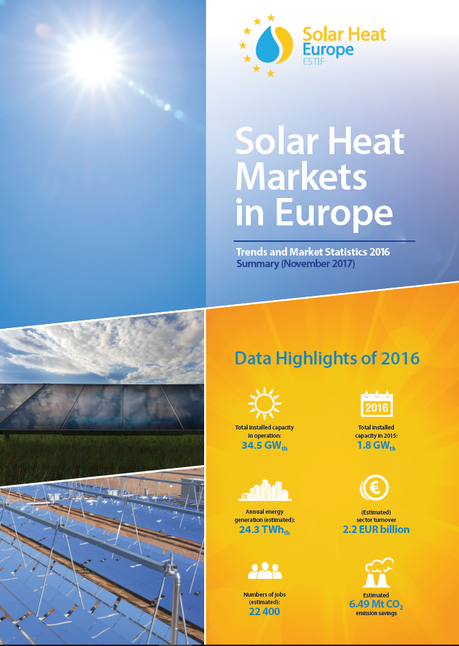 Solar thermal markets in europe trends and market for Europe in november