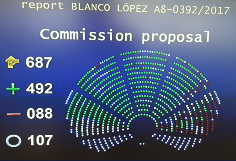 EU Parliament vote – Report