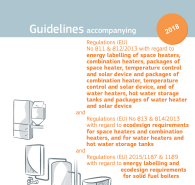 Energy Labelling and Ecodesing of Space and Water Heaters: NEW IMPLEMENTING GUIDELINES PUBLISHED