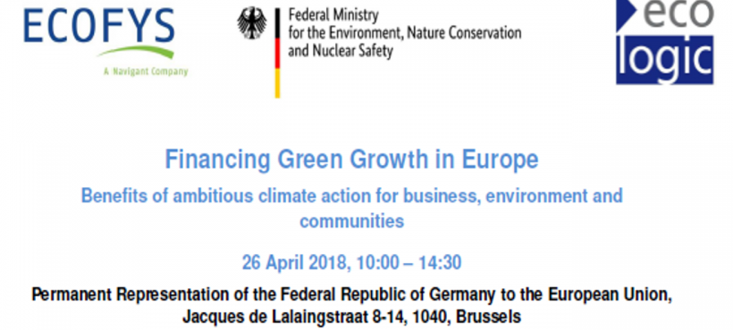 Financing Green Growth in Europe – Benefits of ambitious climate action for business, environment and communities