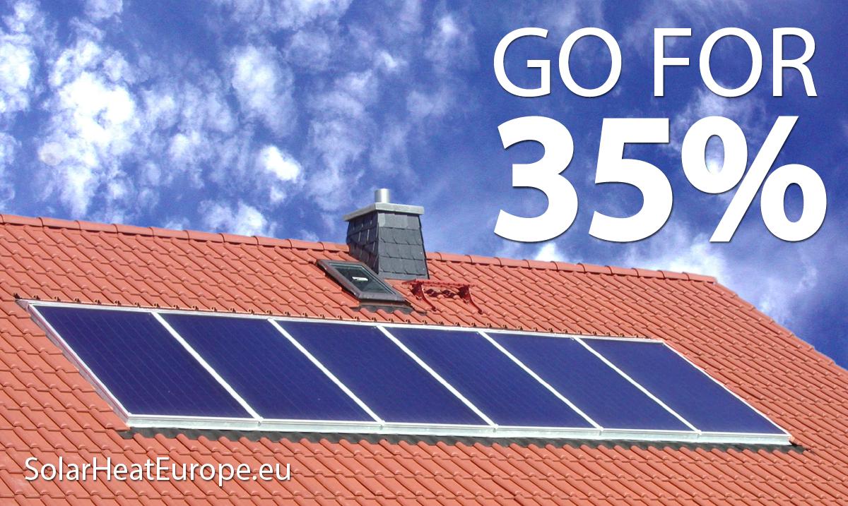 Solar Heat Europe – Go For 35% – Rooftop Collectors