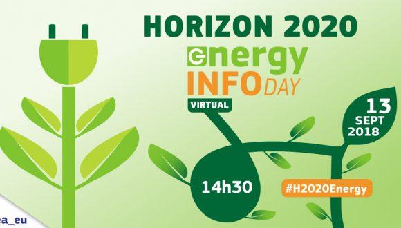 Horizon 2020 Energy virtual info day – September 13th