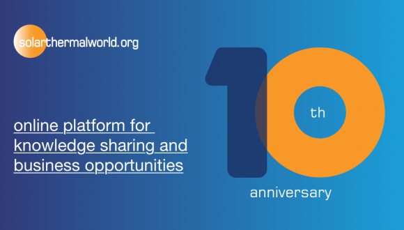 Solar Heat Europe congrats Solar Thermal World for its 10th Anniversary