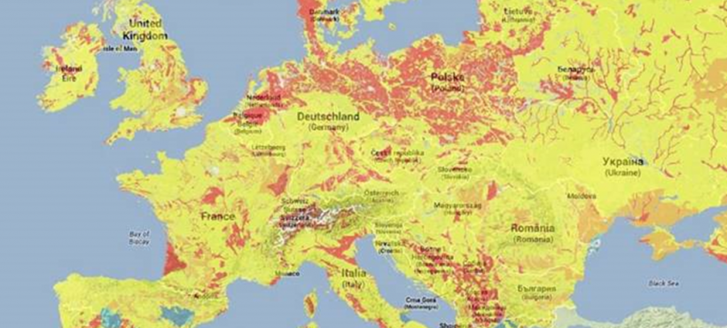 A new mapping of heating and cooling potentials in Europe