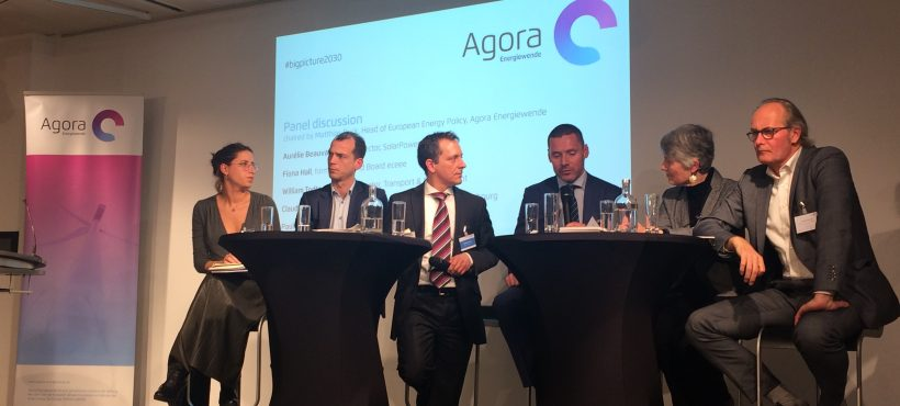 The big picture in the energy transition – launch of Agora Energiewende's report