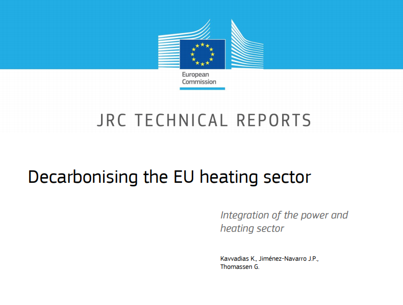 Heating and cooling sector recognised as a priority to decarbonise Europe