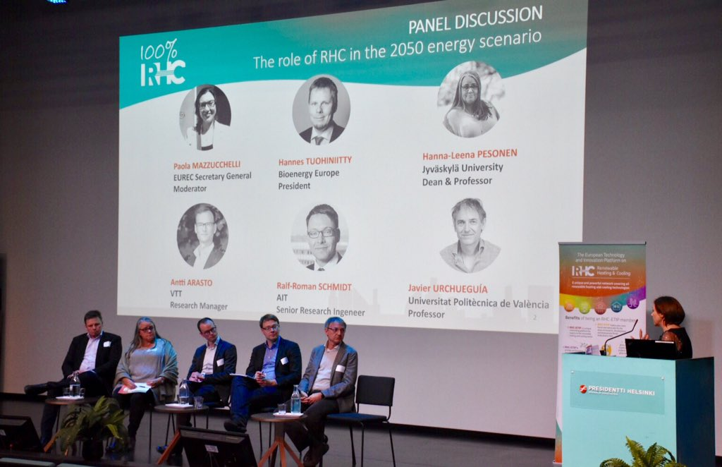 100% Renewable Future, the outcome of the RHC-ETIP annual conference in Helsinki