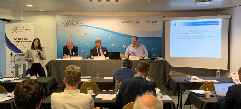 General Assembly reporting on Solar Heat Europe Activities 2019