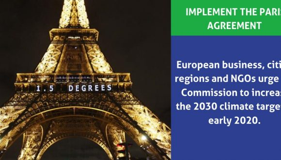 European stakeholders call upon the new Commission to make 2030 climate target a priority