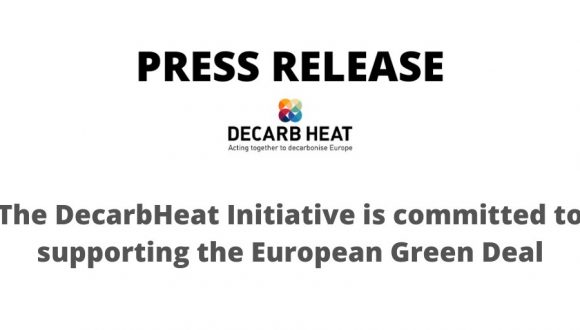 The DecarbHeat coalition is committed to supporting the European Green Deal