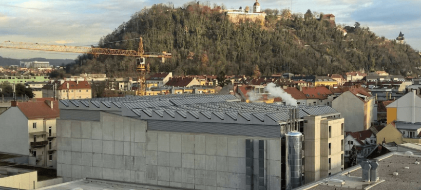Solar heat for cooling in Graz