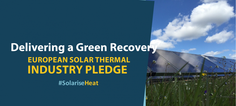 PRESS RELEASE – European solar thermal industry commits to Green Recovery