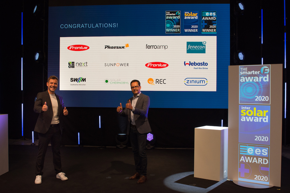 The smarter E AWARD_Intersolar AWARD_ees AWARD Winners 2020