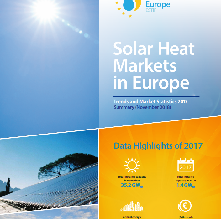 Solar Thermal Markets In Europe – Trends And Market Statistics 2017  (Published In November 2018)