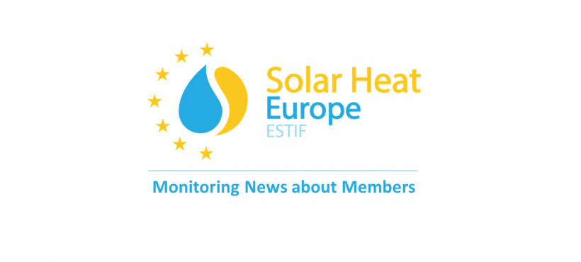 News about Solar Heat Europe Members – 04/08/2020
