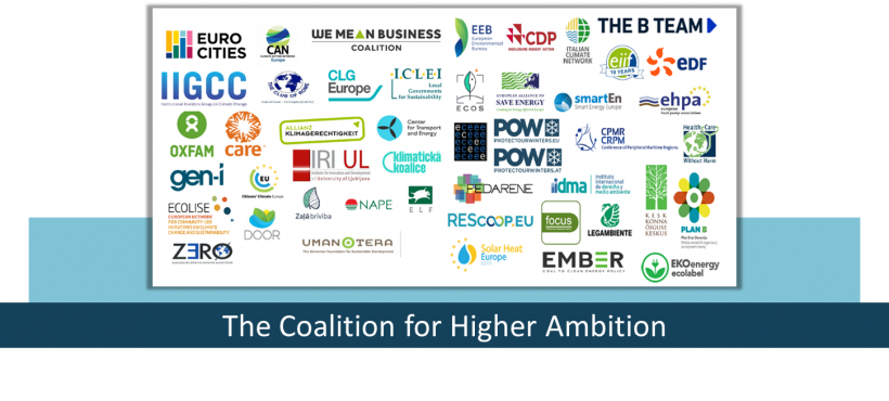 The Coalition for Higher Ambition meets the cabinet of Charles Michel