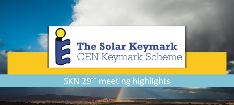 Solar Keymark Network 29th meeting