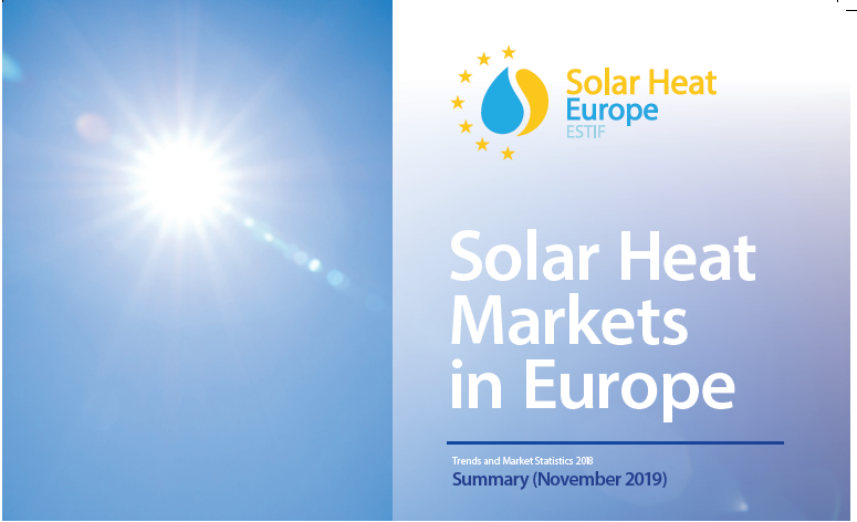 Solar Thermal Markets In Europe – Trends And Market Statistics 2018  (Published In November 2019)