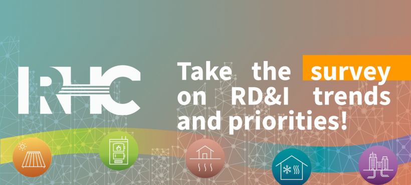 The RHC-ETIP launched a survey on Research, Development & Innovation trends and priorities