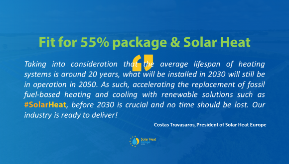 PRESS RELEASE – FitFor55, a make-or-break Package to decarbonise heating and cooling, the largest share of energy consumed in the EU.